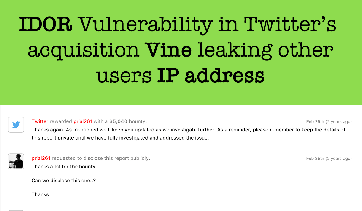 How I earned 5040$ from Twitter by showing a way to Harvest other users IP address