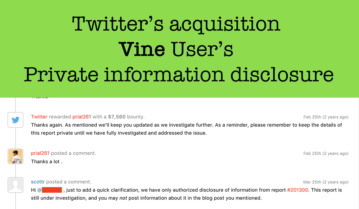 Vine User's Private information disclosure